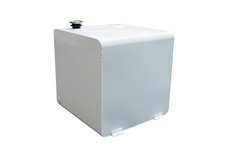 Square Transfer Tank - White Steel