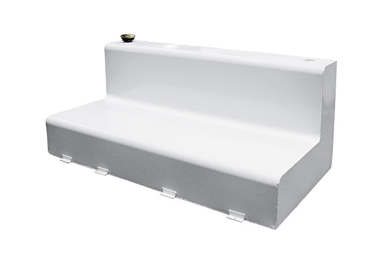 L-Shape Transfer Tank - White Steel