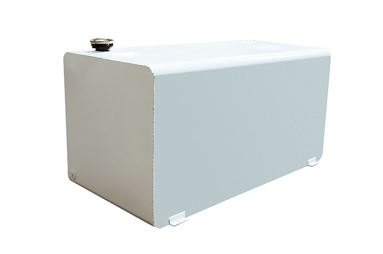 Rectangle Auxiliary Tank - White Steel
