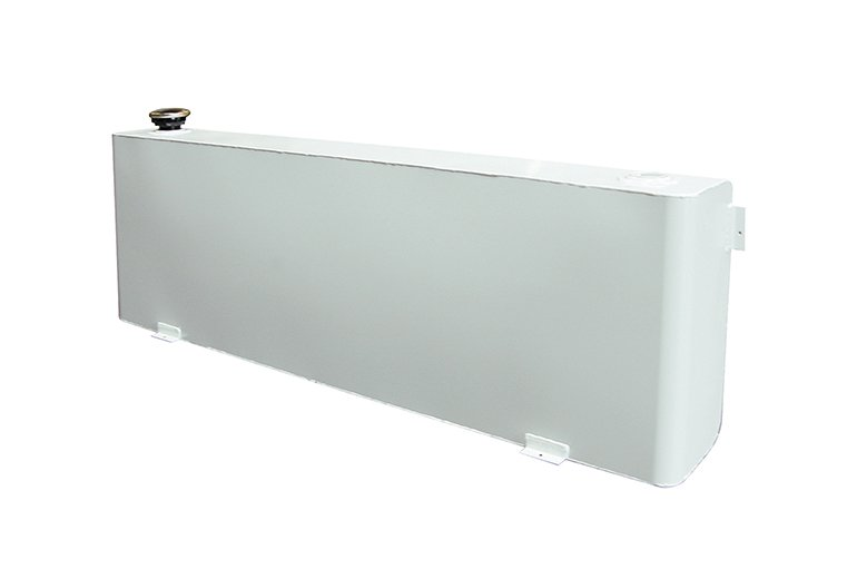 Long Rectangle Transfer Tank - White Steel